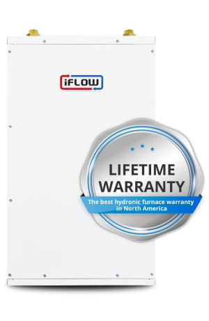 iFLOW offers 'pease-of-mind' Lifetime Warranty - The best hydronic furnace warranty in North America